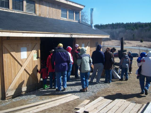 Curran blacksmithing at maple Syrup festival