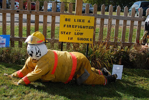 1st Place Winner of our Scarecrow Contest by Orrington Fire Dept.