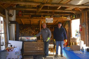 Dick & Ron keeping an eye on the boiling sap