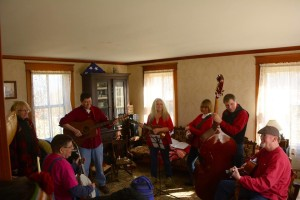 The lively music being played in the house was enjoyed by all
