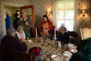 Everyone enjoys gathering in the dining room