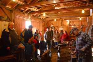 The Blacksmith Shop was open with working demonstrations going on